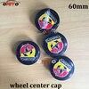 Wholesale 100pcs 60mm 2 36inch ABARTH Logo Emblem Wheel Center Hub Cap Badge Covers Car Styling