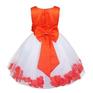 Image 5 - TiaoBug Infant Vestido Infantil Flower Girls Dresses Petals Elegant Pageant Formal Flower Girl Dress for Wedding Party Dresses
