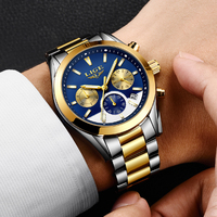 2018 NEW LIGE Watch Mens Military Waterproof Top Brand Watches Stainless Steel Quartz Clock Man Full