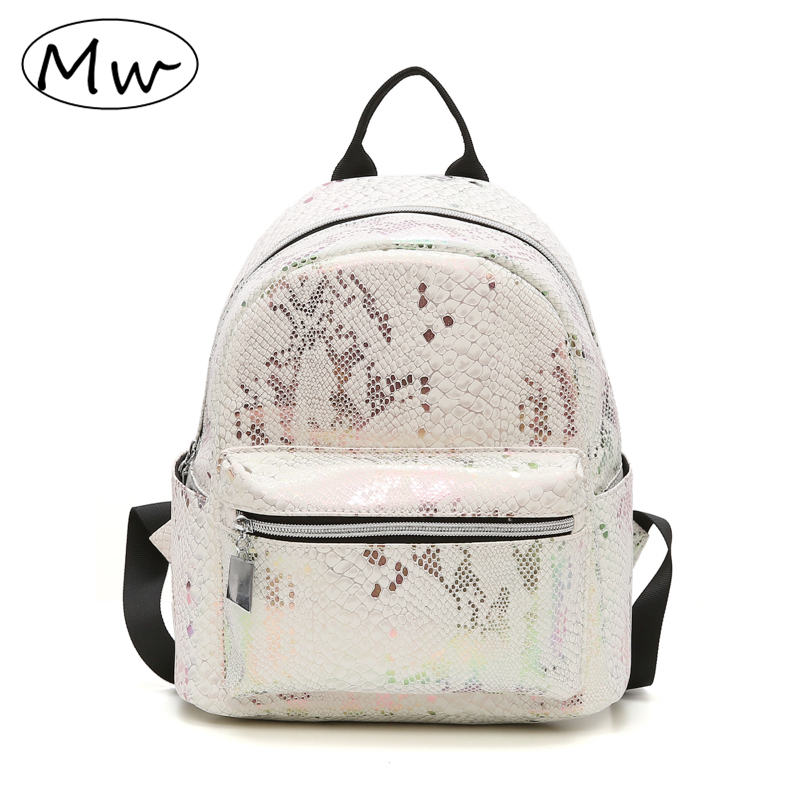 Moon Wood Backpack Female 2018 New Fashion Serpentine Backpack Women Small PU Leather Travel Shoulder Bag Back Pack 2018 Winter 2017 new fashion women backpack female pu leather women s backpacks bagpack bags travel bag back pack multi purpose shoulder bag