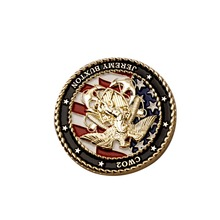 Metal commemorative coin quality brass two-color plating round gold and silver manufacturers custom