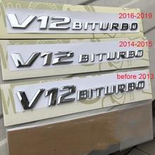 Emblem-Badge Supercharge Car-Styling-Sticker V12 Mercedes-Benz Letters BITURBO Flat