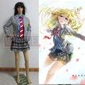 Ваша Ложь в Апреле Miyazono Каори Arima Kousei косплей Костюм Японского аниме школьная форма На Заказ Любого Размера