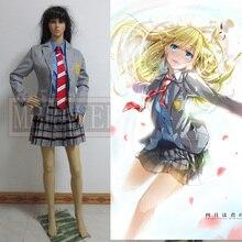 La Mentira en Abril Miyazono Kaori Arima Kousei uniformes escolares Traje Japonés de cosplay Del anime Por Encargo Cualquier Tamaño