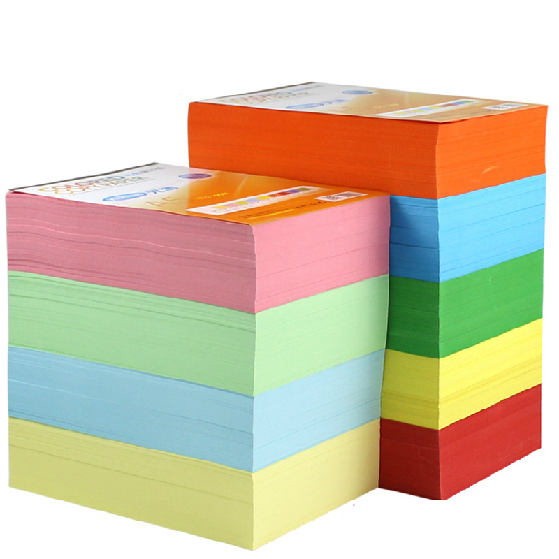 New Copy Printing Color Paper A4 100 Sheets 80G Multicolors Handmade DIY Office School Supplies Gift In From On