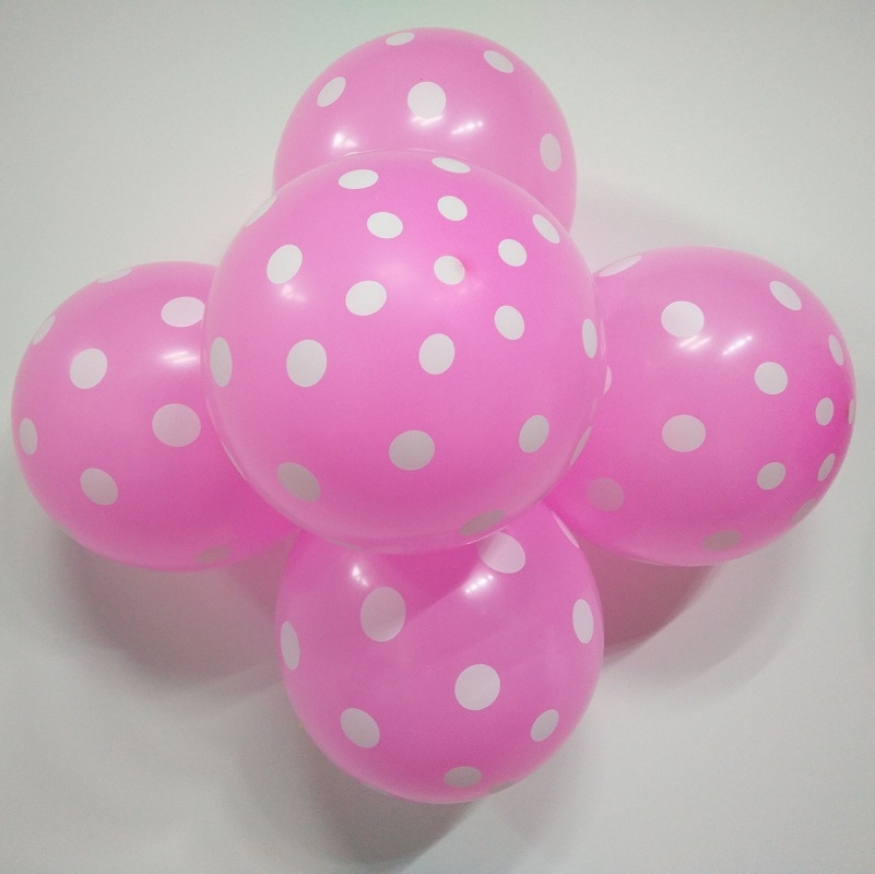 Latex Balloons 100 pcs/Lot 12 Inch Polka/Dot balloon Wedding Decoration Supplies Minnie Mouse Party Supplies Balloons Multicolor