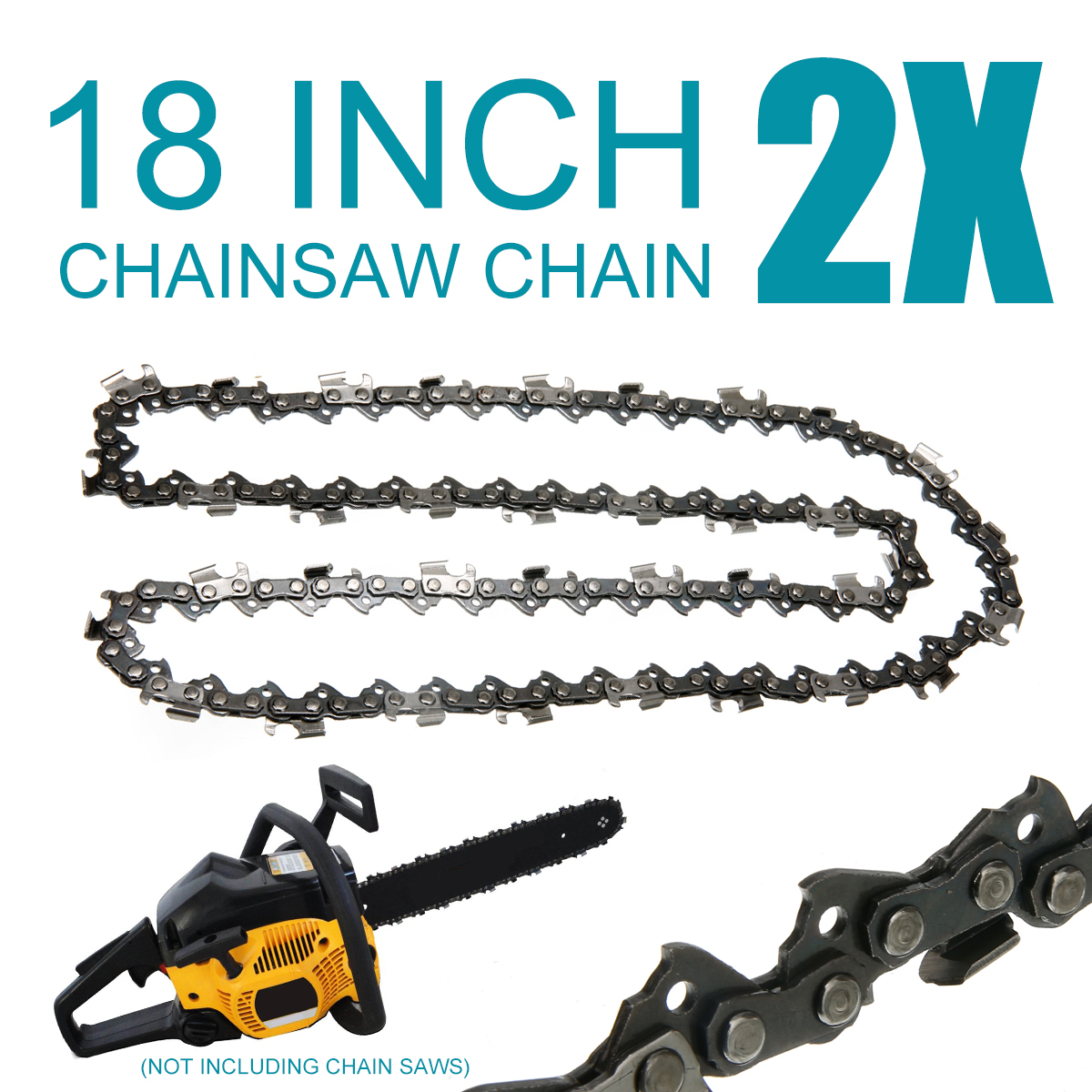 """Mayitr 2pcs 18 inch Chainsaw Saw Chain Blade Pitch .325 """" 0.058 Gauge 72DL Replacement Chain Hardware Tools"""