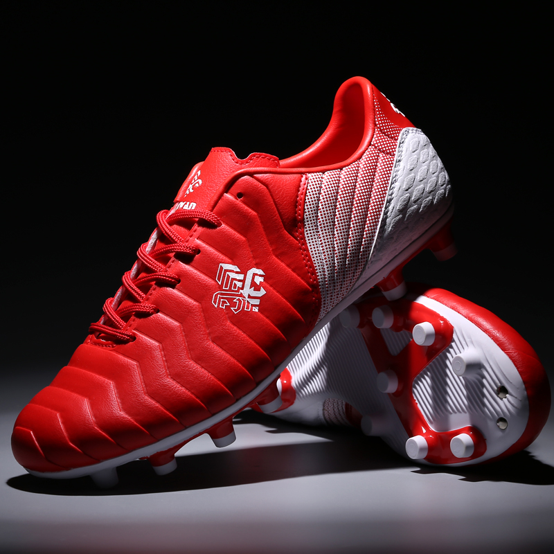 football shoes  men soccer cleats  sneakers men  mans boots red  Outdoor Lawn  Long Spikes  football boots 2019 Soccer Shoes     - title=
