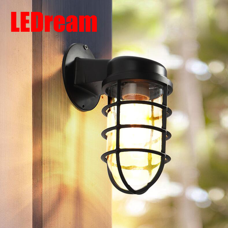 Outdoor lamp stairs aisle waterproof wall lamp retro contracted creative wall lamp courtyard balcony wall lamp wall lamp waterproof courtyard chinese style simple exterior wall stairs aisle european led balcony outdoor retro