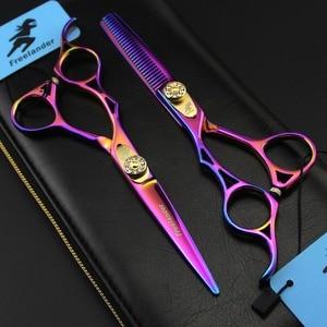 Image 2 - 5.5in Mano Sinistra Freelander Stile Profissional Parrucchiere Forbici di Taglio Dei Capelli Forbici Del Barbiere Cesoie Salone di Alta Qualità