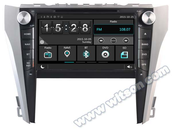 capacitive touch screen special car dvd  toyota camry xv    tire pressure