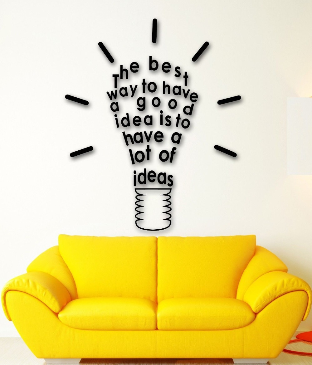 Wall Sticker Vinyl Decal Inspire Message Idea Great Room Decor-in ...