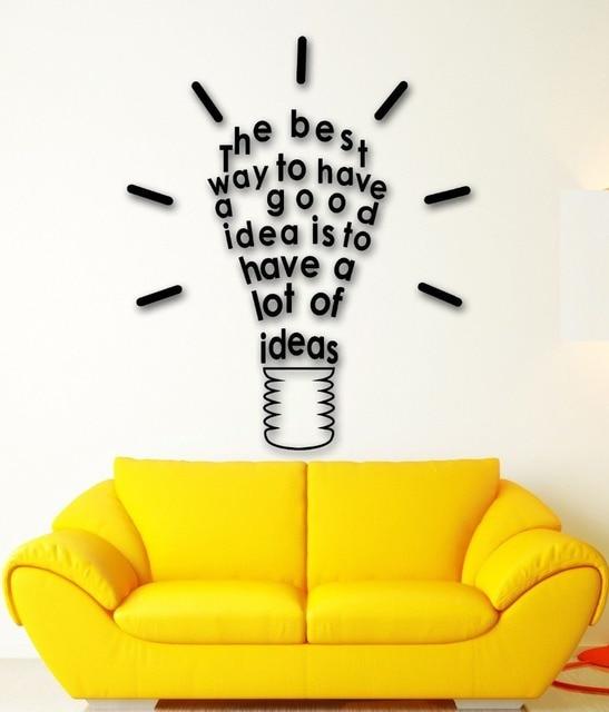 Wall Sticker Vinyl Decal Inspire Message Idea Great Room Decor-in ...