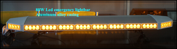 Yüksək ulduz 120cm DC12V 88W amber Led Car xəbərdarlıq lampası, - Avtomobil işıqları - Fotoqrafiya 3