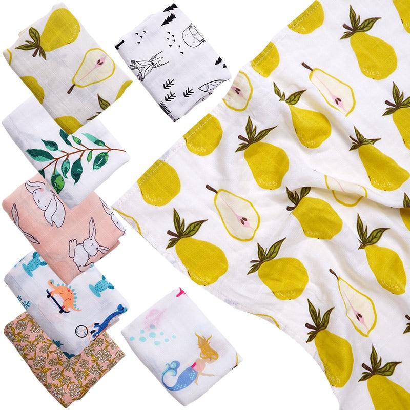 Bamboo Cotton Baby Blanket Bibs Super Soft Newborn Feeding Burp Cloths Handkerchief Multi-role Swaddle Wrap Bathing Towels Props