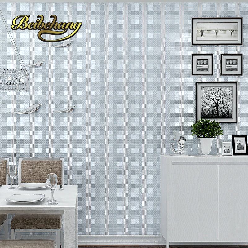 beibehang  Simple Vertical Striped Thickness 3D Nonwoven Fabric Wallpaper Mediterranean Bedroom Living Room papel de parede beibehang vertical striped embroidery diamond in the mediterranean bedroom living room wallpaper tv wall papel de parede
