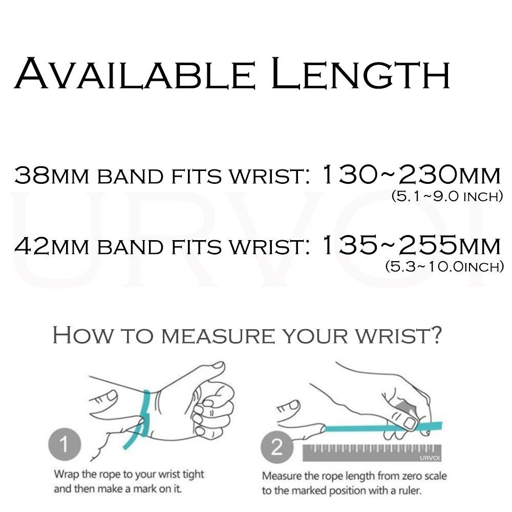 Banda URVOI para apple watch link pulsera serie 4 3 2 1 correa para iWatch banda ajustable de acero inoxidable de alta calidad gen.6th - 3
