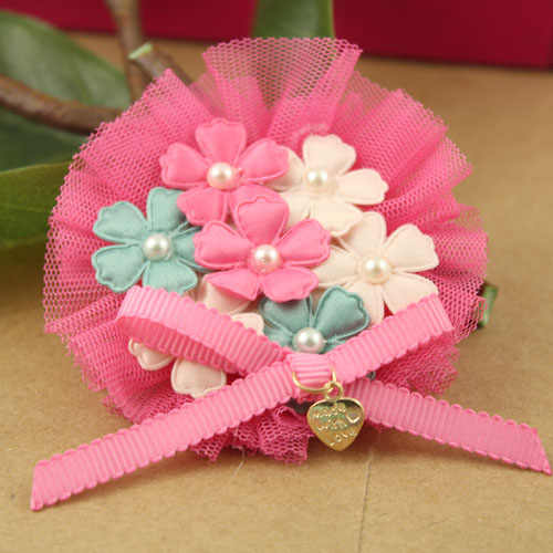 Gaya baru 10 pcs/lot Mutiara Bunga/bow dekorasi Lace Putaran Bentuk handmade motif bunga diy perhiasan bros/garmen/rambut aksesori