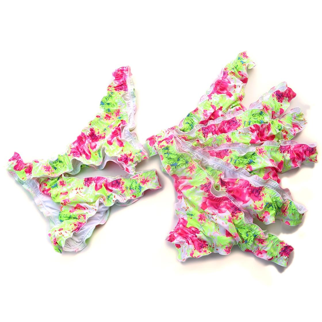 Bikini Bottoms Sexy Secret Cheeky Printing yellow Swimwear Biquini  Bikinis Swim Suit Women Brazilian Bikini Thong Bottom