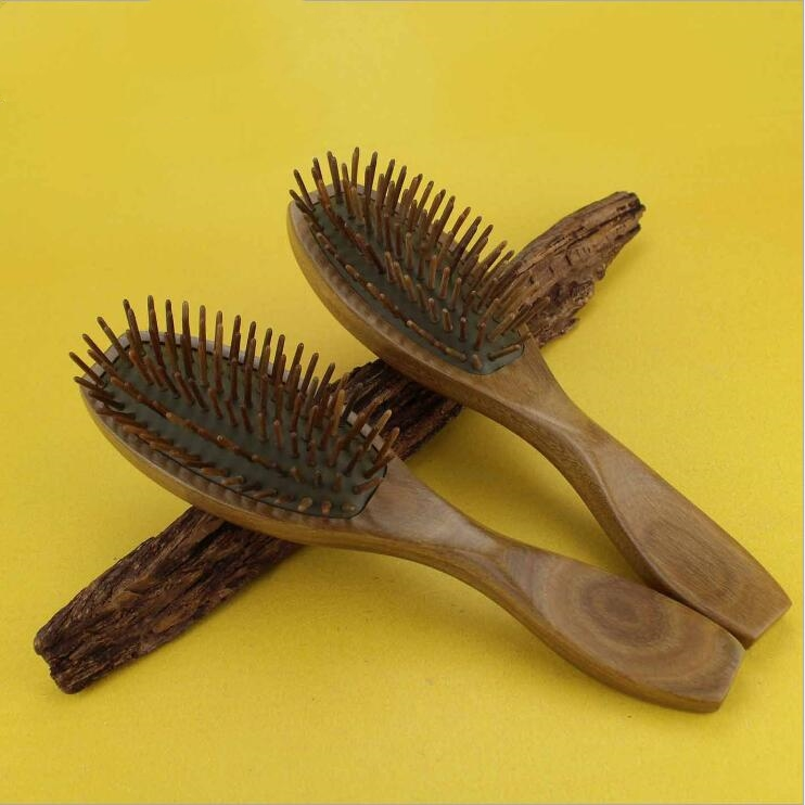 Handmade Green sandalwood Styling Tools Combs Air bag Detangling Airbag Brush Detangle Healthy Care Massage Antistatic Hairbrush