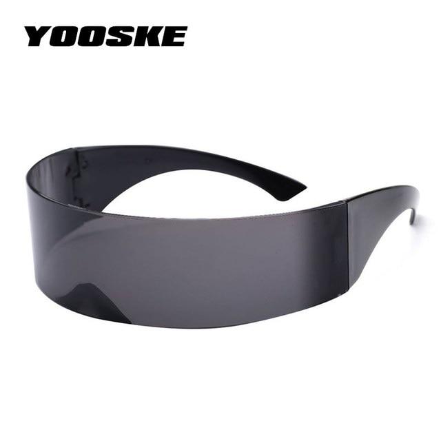 YOOSKE drôle futuriste enveloppement autour de Monob Costume lunettes de soleil masque nouveauté lunettes Halloween fête fournitures décoration