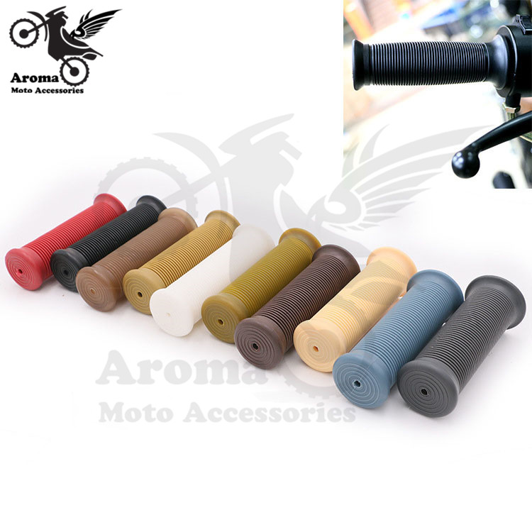 retro dirt pit bike parts soft rubber motorbike handle bar universal 7/8 22mm 24mm motorcycle grip for harley handlebar moto