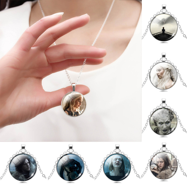 Game of Thrones Women Glass Cabochon Necklace Jewelry