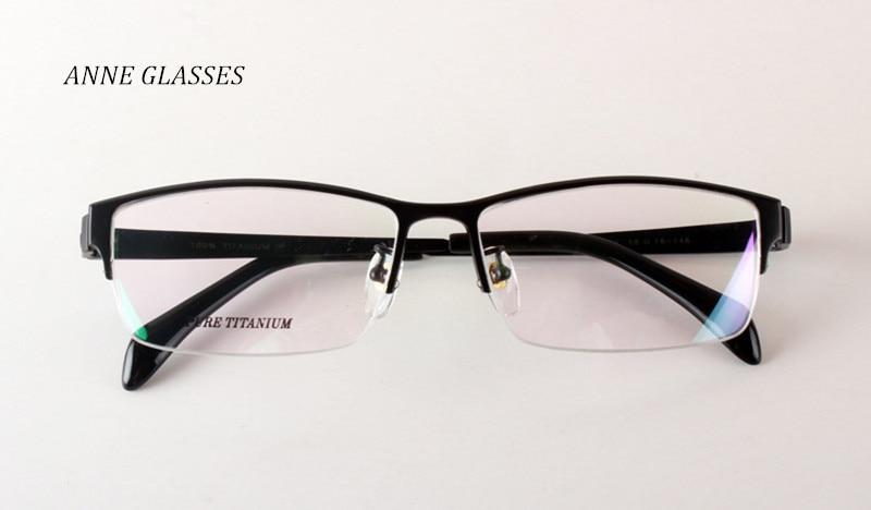 Eyeglass Frames For Fat Face : ANNE GLASSES Men Large Face Glasses Frame Titanium Half ...