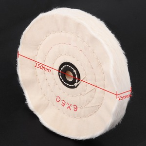 Image 2 - 6 לבן בד מרוט ליטוש גלגלים חיץ פולני כרית מטחנת עץ מתכת ליטוש כלי עבור שוחקים כלים