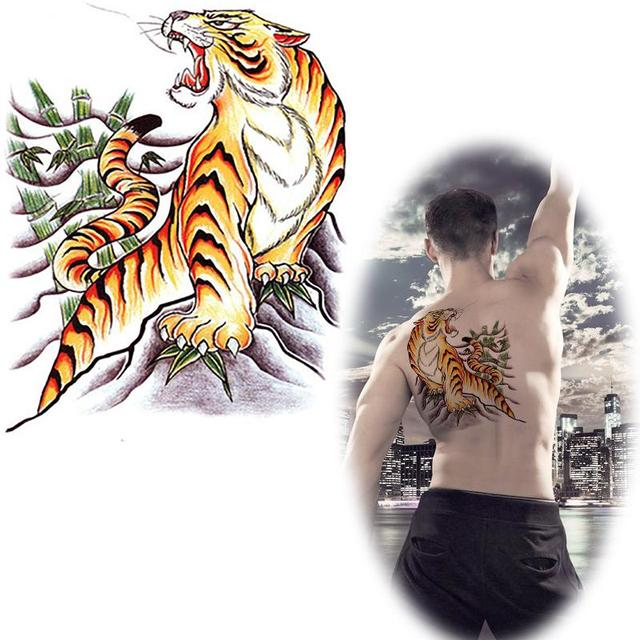 Realiste Belle Tigre De Tatouage Dessins Pour Le Dos Faux Tatto