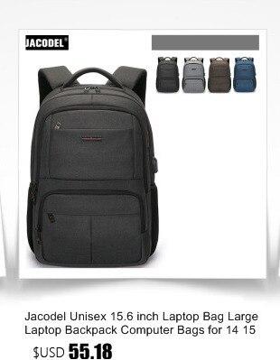 f86022fe6ca8b Jacodel Unisex 19 18 17 inç Laptop çantası dizüstü sırt çantası 15.6 17.3  Laptop için erkekler seyahat sırt çantası koleji öğrenci okul çantaları