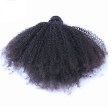 Afro Kinky Curly Hair Bundles Peruvian Virgin Hair Weaving 100% Human Hair Extension Natural Color Honey Queen Products