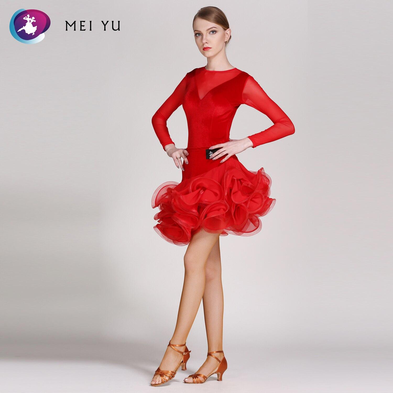 Mei Yu Gb007 En Gb054 Latin Dance Top En Rok Past Dans Jurk Ballroom Kostuum Turnpakje Vrouwen Dame Avondfeest Jurk