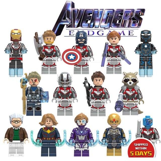 Endgame LEGOED vingadores Thanos Maravilha Único Modelo de Blocos de Construção de mini tijolos Hulk Homem De Ferro Homem Aranha Figuras Brinquedos para Crianças