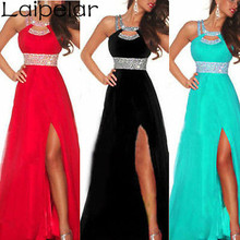 2018 New Arrival Women Long Sexy Dress Sequined Strappy Dress  Ball Prom Gown Formal Bridesmaid Low Cut  Chiffon Dress Laipelar все цены