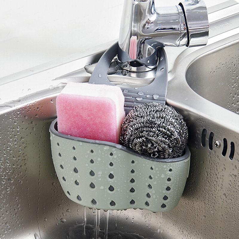 Faroot New Useful Suction Cup Sink Shelf Soap Sponge Drain Rack Kitchen Sucker Storage gemei gm 7003