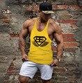 Tanque pesado Hombres Ropa Ropa de la Aptitud Camisa Hombres Camiseta Musculosa Powerlifting Motivacional Muerto de Algodón Chaleco Sin Mangas de Los Hombres