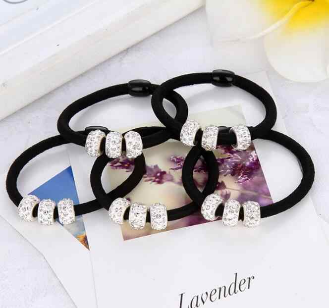 1Pcs Elastic Hair Bands With Three Rhinestones Ball Lovely Gift For Women Girl Hair Accessories Rope Free Shipping