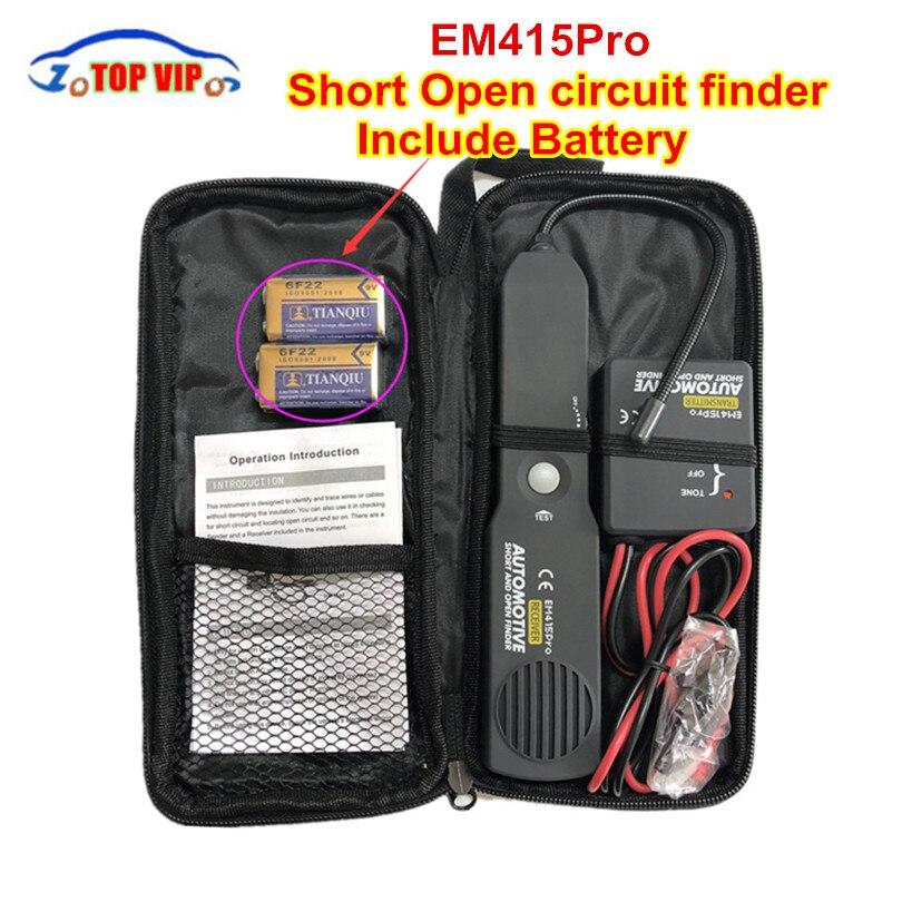 Avec batterie! testeur de détecteur de Circuit de trouveur court et ouvert de voiture automobile EM415PRO traceur de détecteur d'outil de réparation de voiture pour fil ou câble