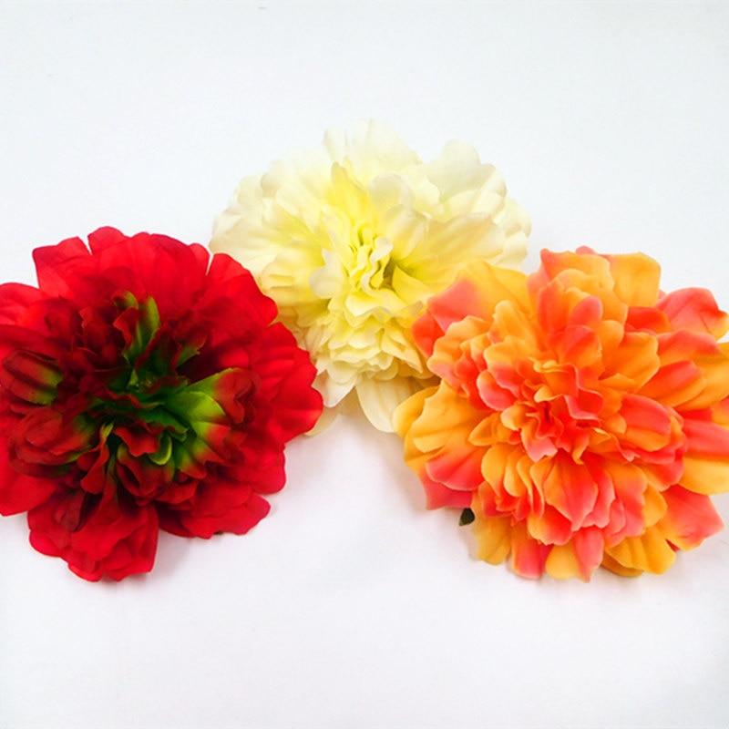 5 PCS (12 cm/a) artificial silk peony flower heads home garden decoration DIY wedding bouquet gift box collage arranging flowers