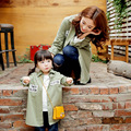 2016 New Mother and Daughter Family Clothing 3 Colors Available Autumn Coat Letters Printed Family Matching Outerwear Clothes