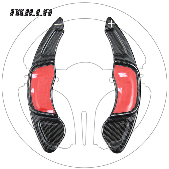 NULLA For Volkswagen VW Golf 7 GTI MK7 R 2015 2016 2017 Car Steering Wheel Extension Carbon Fiber Interior Paddle Shifter Shift real carbon fiber mirror cover case for vw golf 7 mk7 gti tsi vii jdm 2013 2015 [1031001]