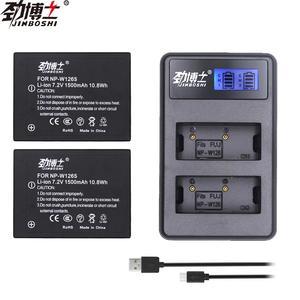 2 шт. NP-W126S NP W126S батарея + 2 разъема USB зарядное устройство для Fujifilm Fuji XT2 XH1 XT10 XT3 XA5 XT20 X100F HS30EXR HS33EXR X PRO2