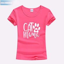 Clothes For Women 2019 Summer Fashion Funny Cat Mama Printed T Shirts Cotton Lovers Tshirt Tops O-Neck Tees Harajuku Shirt