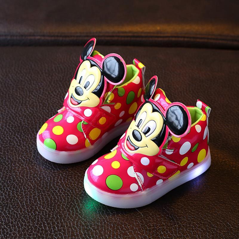 HaoChengJiaDe New Children Luminous Shoes Boys Girls Sports Shoes Baby Flashing Lights Fashion Sneakers Toddler Kid LED Sneakers все цены