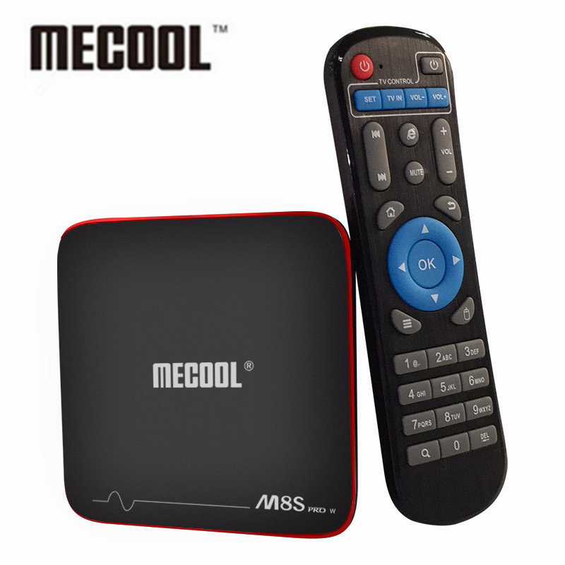 MECOOL M8S PRO W Android 7.1 TV Box Amlogic S905W CPU Quad Core 2 GB di RAM DDR4 16 GB Smart TV Box 2.4 GHz WiFi 4 K H.265 Set Top Box