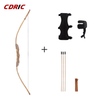 Good-quality  Powerful Wooden Wood Bow With 3 Arrows And Quiver Kids Toy Wood Archery Bow DIY Set Kids Gift 1