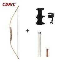 Хорошее качество мощный деревянный лук с 3 стрелами и колчан детская игрушка деревянный лук для стрельбы из лука DIY набор детский подарок