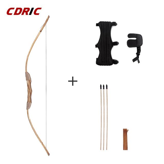 良質強力な木製の木の弓 3 矢印と矢筒と子供のおもちゃ木製アーチェリー弓 DIY セット子供ギフト