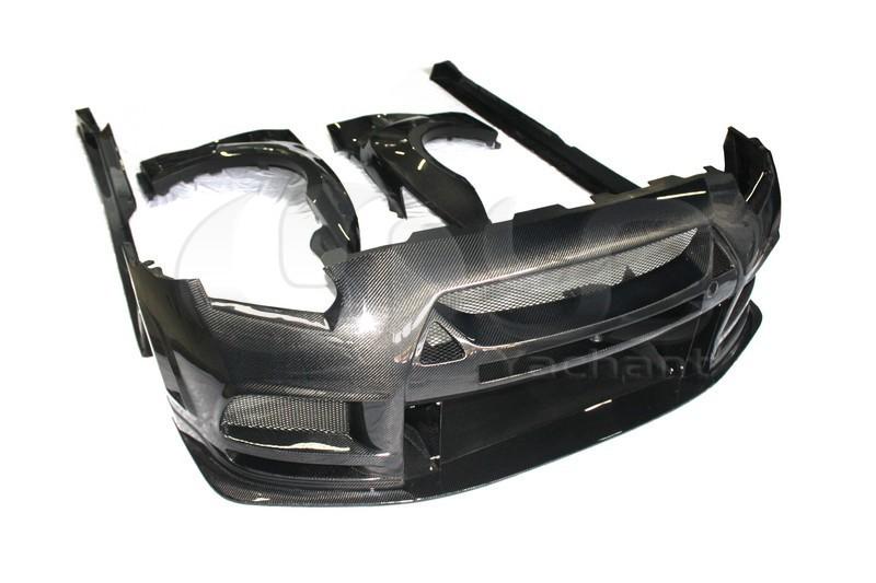 2008-2013 Nissan  R35 GTR CBA DBA TP Style Wide Boky Kit CF (2)